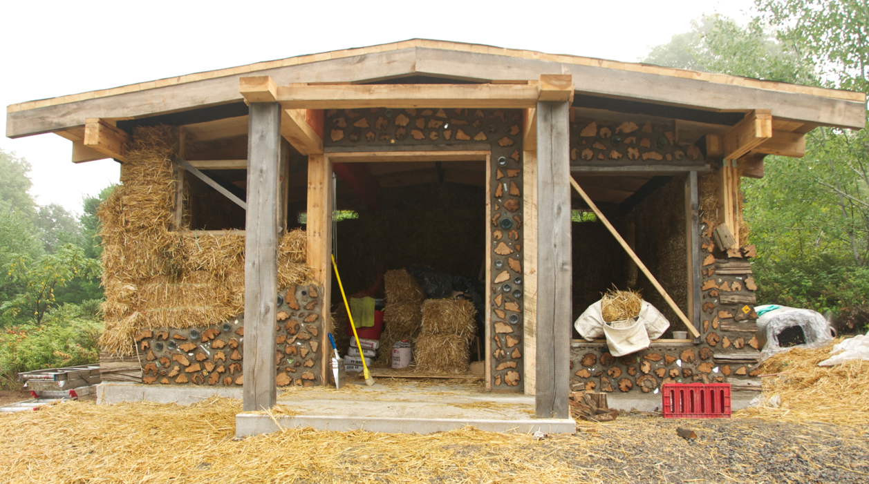Cordwood Construction And Some Straw Bale Too Rena