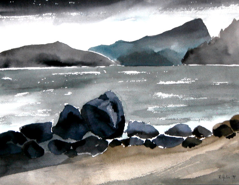 Storm -  watercolours  by Rena Upitis