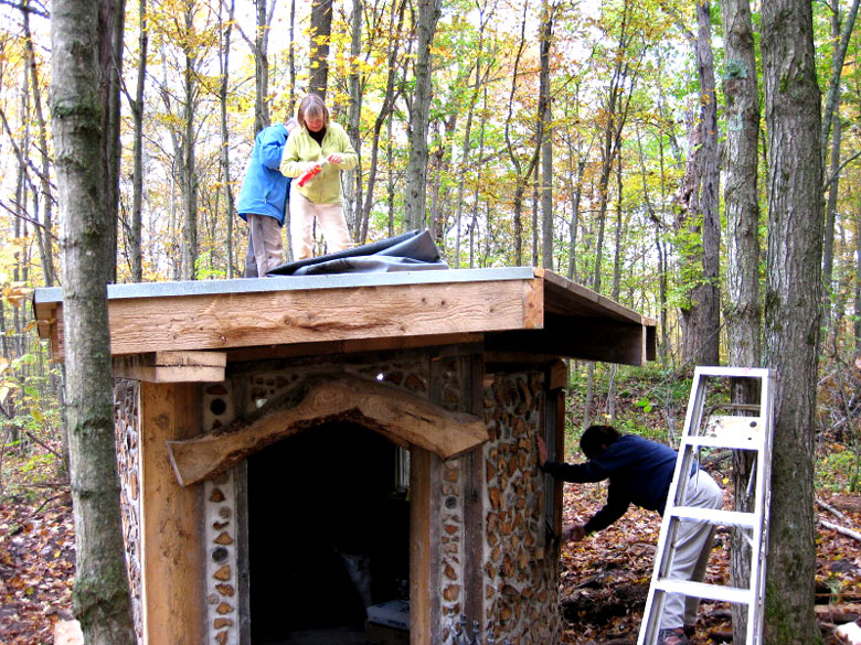 Cordwood Construction Insulation : Cordwood construction and some straw bale too rena